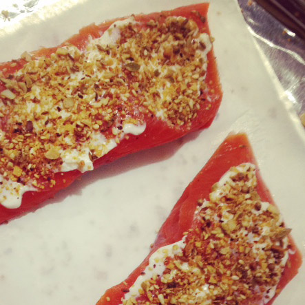 dukkah salmon